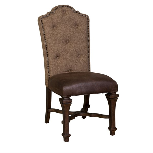 2 Liberty Lucca Cordovan Brown Upholstered Side Chairs LBRT-535-C6501S