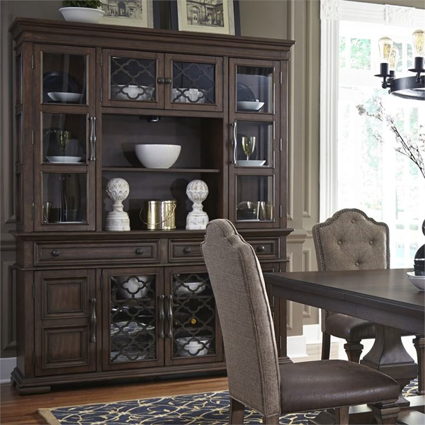 Liberty Lucca Cordovan Brown Hutch And Buffet LBRT-535-DR-HB