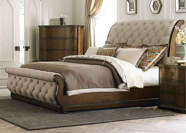 Liberty Cotswold Cinnamon Sleigh Beds LBRT-545-BR-QSL-BED-VAR