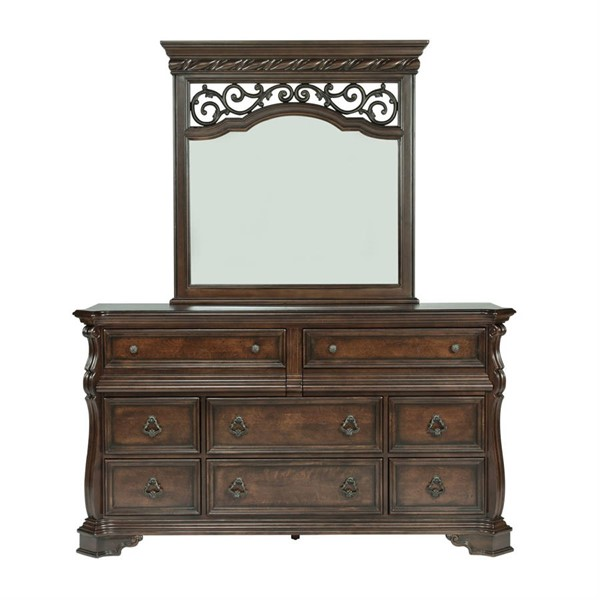 Liberty Arbor Place Brown 8 Drawers Dresser and Mirror LBRT-575-BR-DM