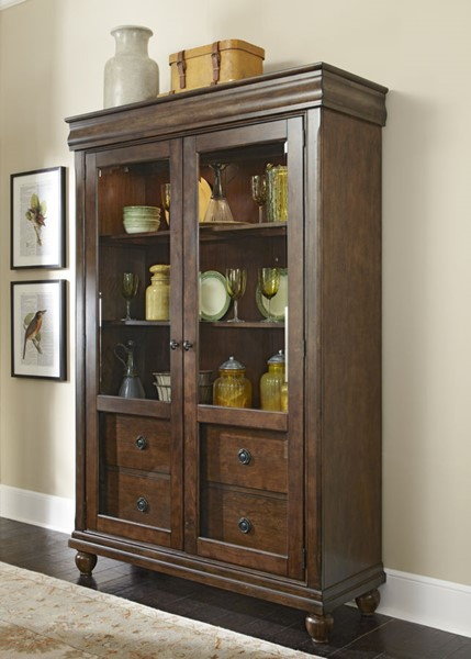 Liberty Rustic Tradition Cherry Display Cabinet LBRT-589-CH5278