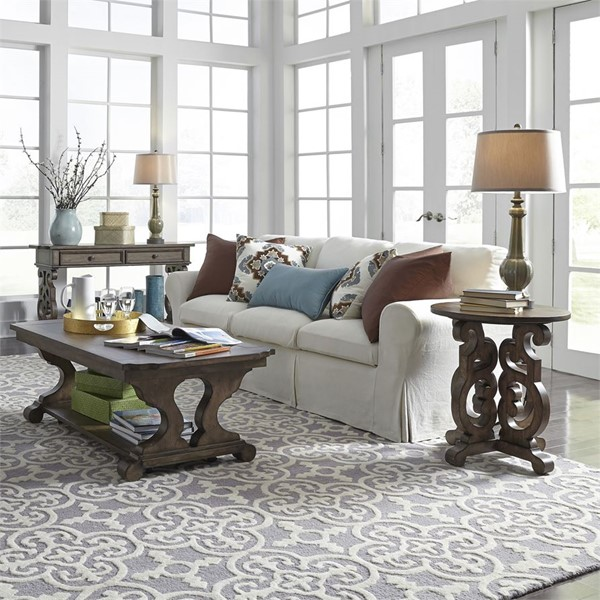 Liberty Parisian Marketplace Brownstone 3pc Coffee Table Set LBRT-598-OT-3PCS