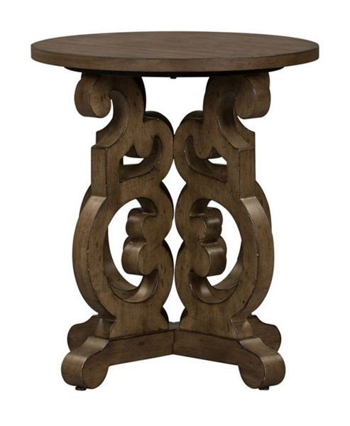 Liberty Parisian Marketplace Brownstone Round End Table LBRT-598-OT1020
