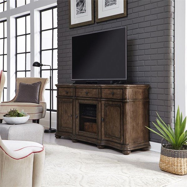 Liberty Parisian Marketplace Oak 64 Inch TV Console LBRT-598-TV64