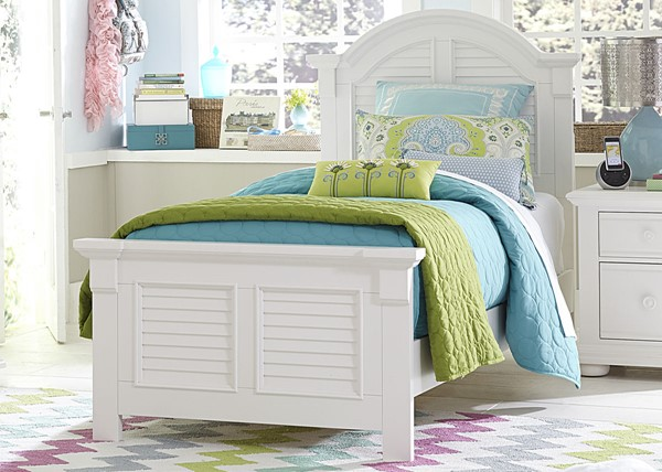 Liberty Summer House Youth Oyster White Twin Panel Headboard LBRT-607-BR11