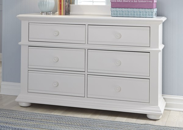 Liberty Summer House Youth Oyster White Dresser LBRT-607-BR30