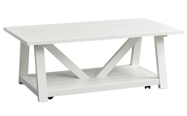 Liberty Summer House Oyster White Cocktail Table LBRT-607-OT1010