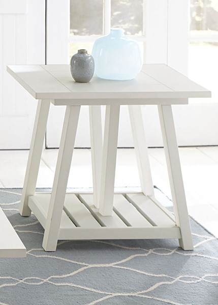 Liberty Summer House Oyster White End Table LBRT-607-OT1020