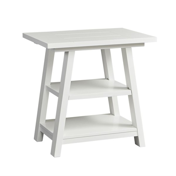Liberty Summer House Oyster White Chair Side Table LBRT-607-OT1021