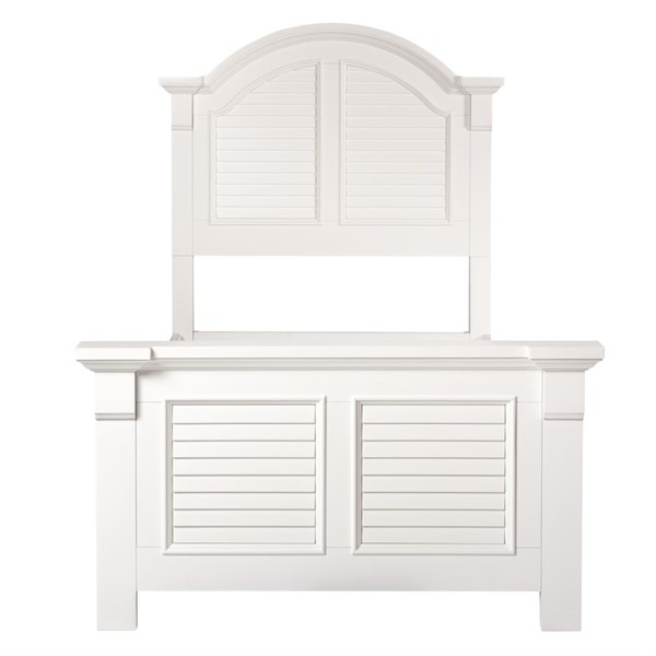 Liberty Summer House Youth Oyster White Twin Panel Bed LBRT-607-YBR-TPB