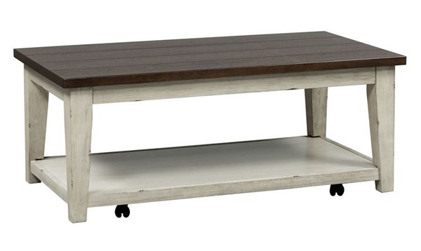 Liberty Lancaster Weathered Bark White Cocktail Table LBRT-612-OT1010