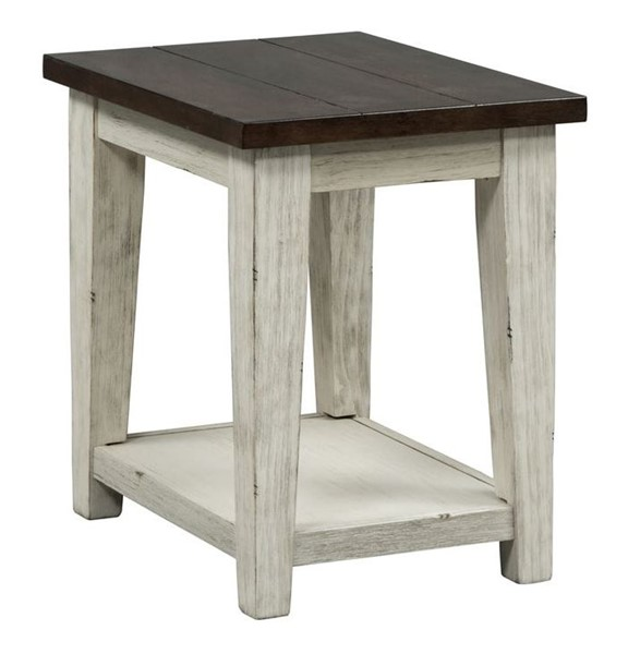 Liberty Lancaster Weathered Bark White Chair Side Table LBRT-612-OT1021