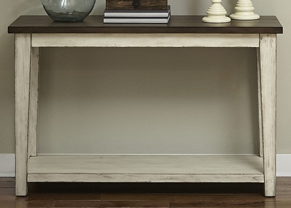 Liberty Lancaster Weathered Bark White Sofa Table LBRT-612-OT1030