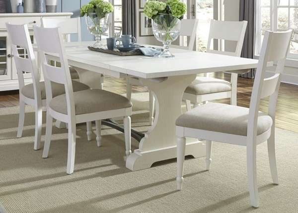 Liberty Harbor View II Linen Rectangle 7pc Dining Room Set LBRT-631-DR-7TRS