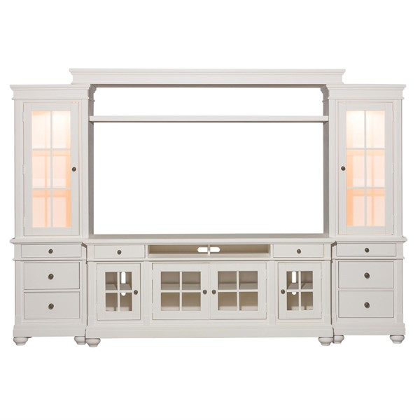 Liberty Harbor View Linen Entertainment Center with 74 Inch TV Stand LBRT-631-ENTW-ECP