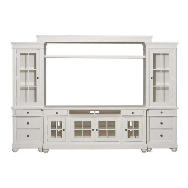 Liberty Harbor View Linen Entertainment Center with 62 Inch TV Stand LBRT-631-ENTW-OEC