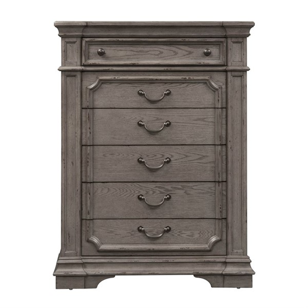Liberty Grand Estates Gray Taupe Brown 6 Drawer Chest LBRT-634-BR41