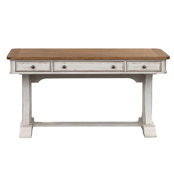 Liberty Farmhouse Reimagined Antique White Writing Desk LBRT-652-HO107