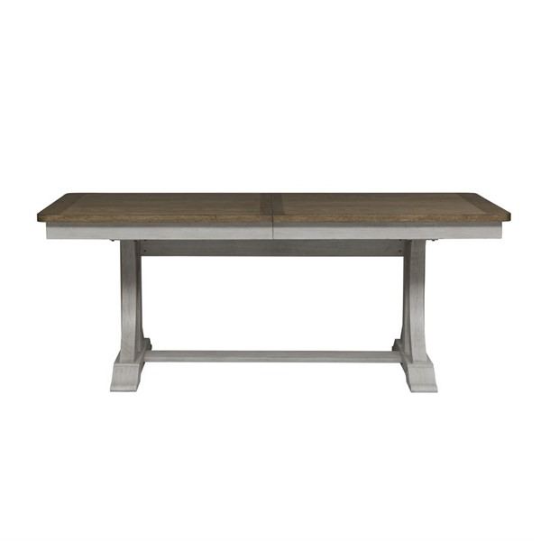 Liberty Farmhouse Reimagined White Chestnut Trestle Table LBRT-652-4096-DT
