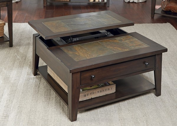 Liberty Hearthstone Dark Oak Lift Top Cocktail Table LBRT-682-OT1011