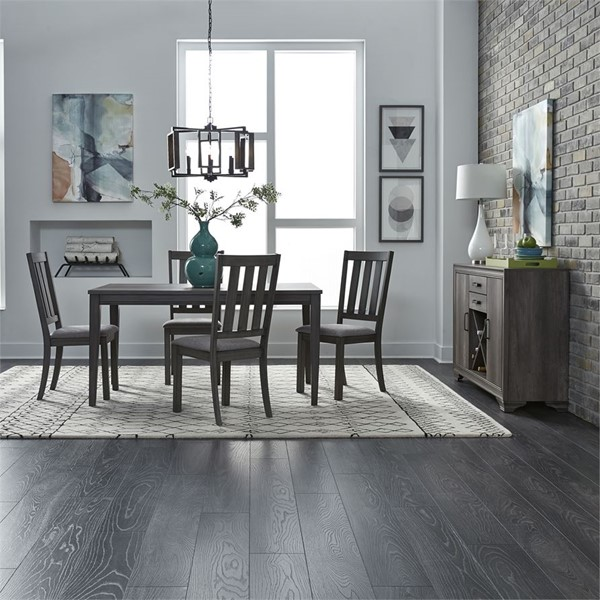 Liberty Tanners Creek Greystone 5pc Dining Room Set With Slat Back Side Chair LBRT-686-CD-5LTS