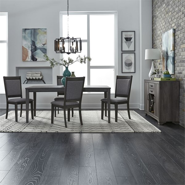 Liberty Tanners Creek Greystone 5pc Dining Room Set with Upholstered Side Chair LBRT-686-CD-O5RLS