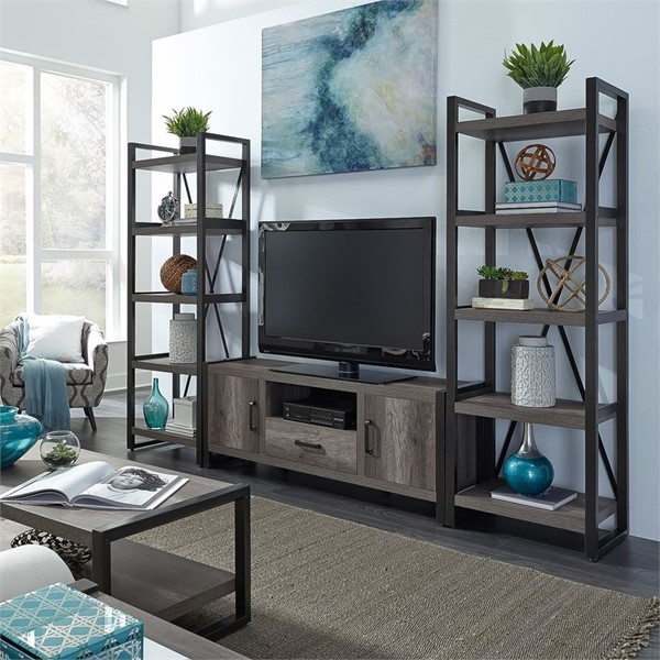 Liberty Tanners Creek Greystone Entertainment Center With Tall Piers LBRT-686-ENTW-OEC
