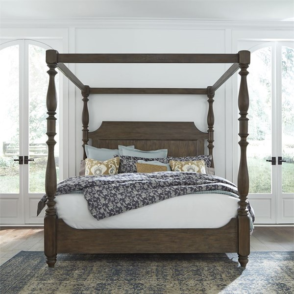 Liberty Homestead Canopy Bed LBRT-693-QK-BED-VAR3
