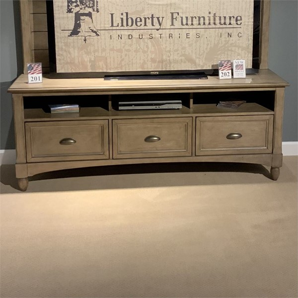 Liberty Lakeside Chalky Taupa Entertainment TV Stand LBRT-695-TV72