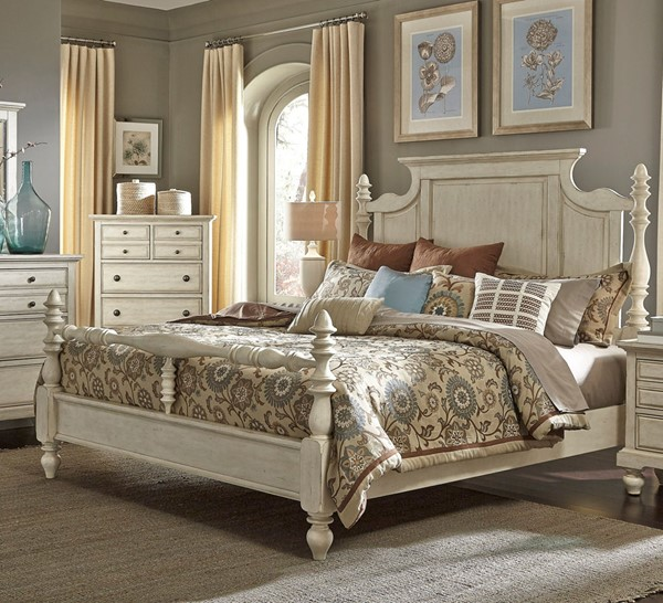 Liberty High Country White Poster Beds LBRT-697-BR-QPS-BED-VAR