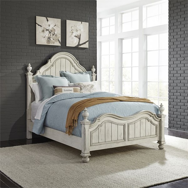 Liberty Parisian Marketplace Two Tone Brownstone King Poster Bed LBRT-698-BR-KPS