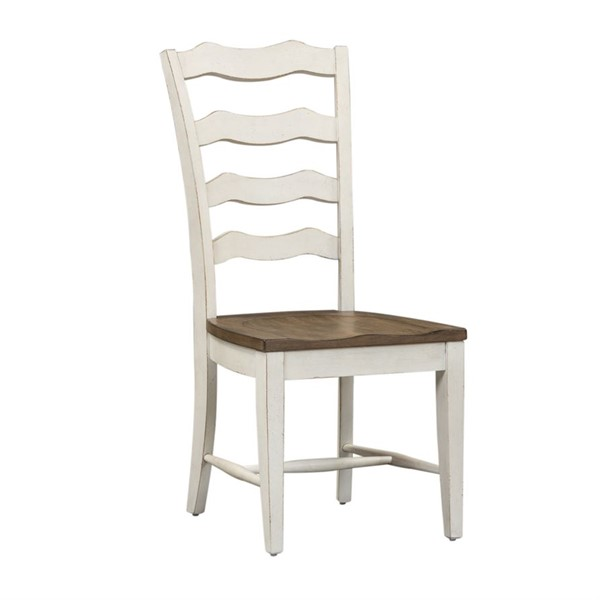 2 Liberty Parisian Marketplace Two Tone Brownstone Ladder Back Side Chairs LBRT-698-C2000S