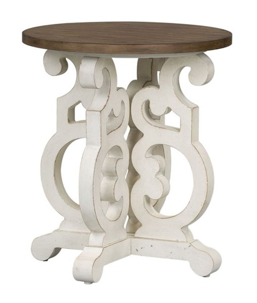 Liberty Parisian Marketplace White Round End Table LBRT-698-OT1020