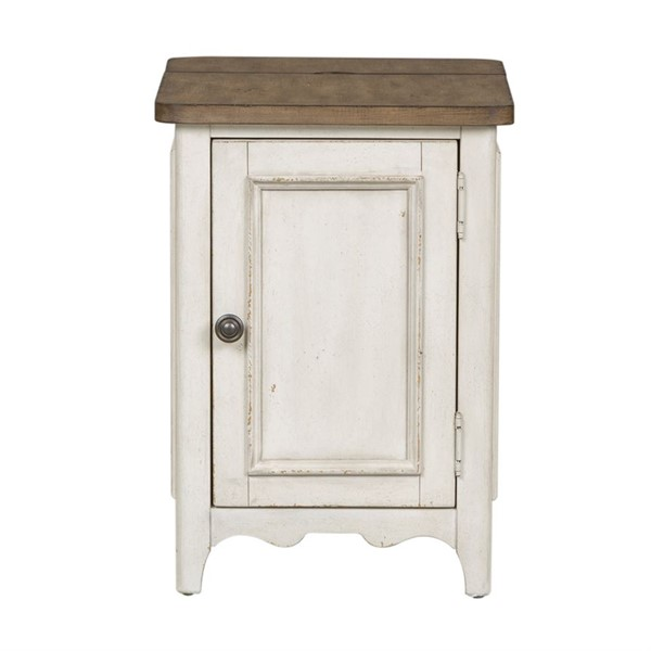 Liberty Parisian Marketplace White Door Chair Side Table LBRT-698-OT1021