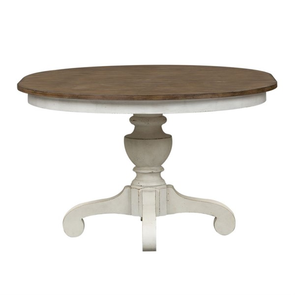 Liberty Parisian Marketplace Two Tone Brownstone Single Pedestal Table LBRT-698-4860-DT