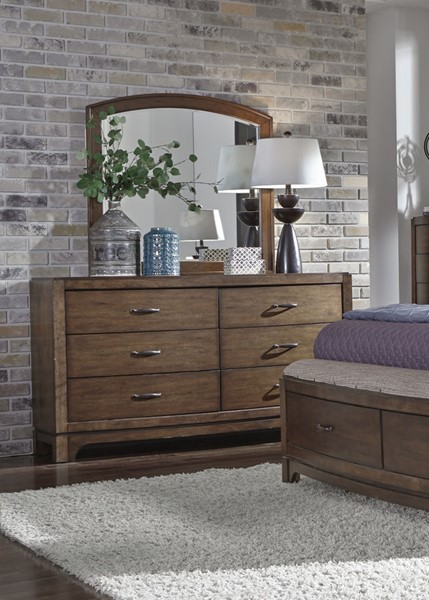 Liberty Avalon III Brown Dresser and Mirror LBRT-705-BR-DM