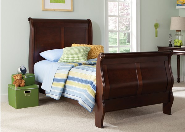 Liberty Carriage Court Youth Mahogany Sleigh Beds LBRT-709-YBR-BED-VAR
