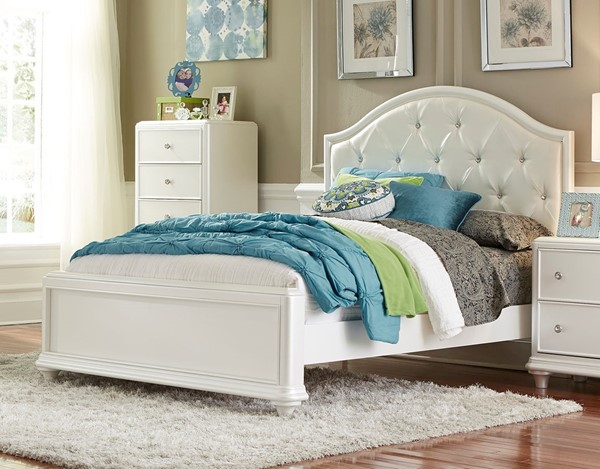 Liberty Stardust Youth White Panel Bed LBRT-710-TPB-BED-VAR