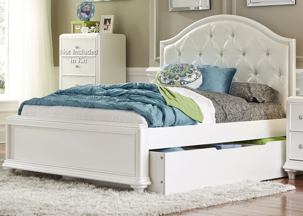 Liberty Stardust Youth White Trundle Bed LBRT-710-TTR-BED-VAR