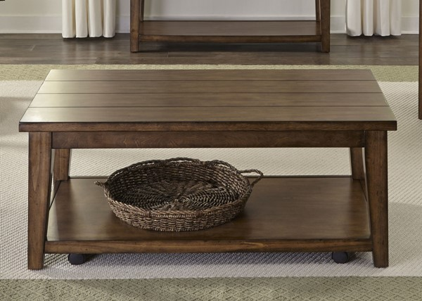 Liberty Lancaster II Brown Cocktail Table LBRT-712-OT1010