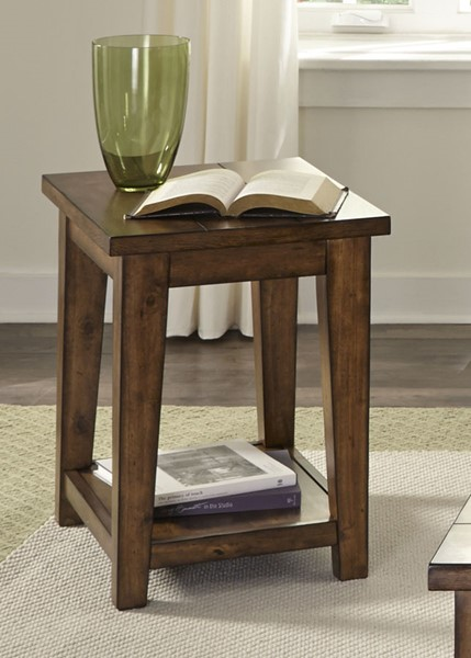 Liberty Lancaster II Brown Chair Side Table LBRT-712-OT1021