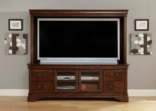Liberty Alexandria Brown Entertainment Center with TV Stand LBRT-722-ENT-ENC