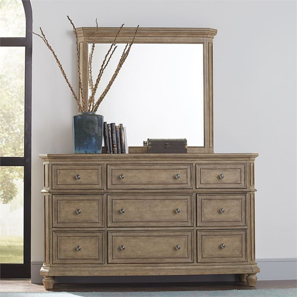 Liberty Laurels Dresser And Mirror LBRT-725-BR-DM