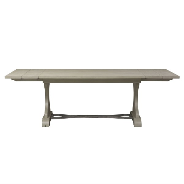 Liberty Harbor View III Dove Trestle Dining Table LBRT-731-T4294
