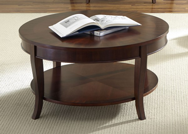 Liberty Bradshaw Cherry Round Cocktail Table LBRT-748-OT1010