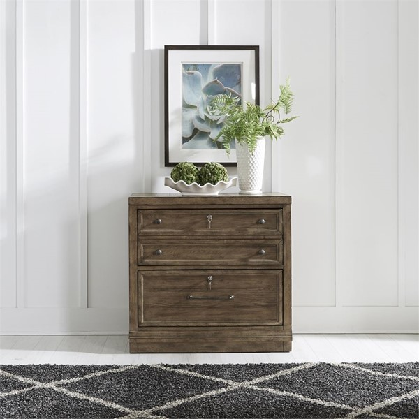 Liberty Harvest Home Barley Brown File Cabinet With Hutch LBRT-779-HO135-FC