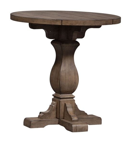 Liberty Harvest Home Barley Brown Drop Leaf End Table LBRT-779-OT1022