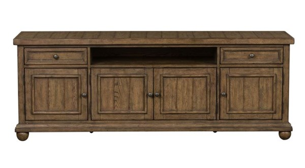 Liberty Harvest Home Barley Brown 75 Inch TV Console LBRT-779-TV75