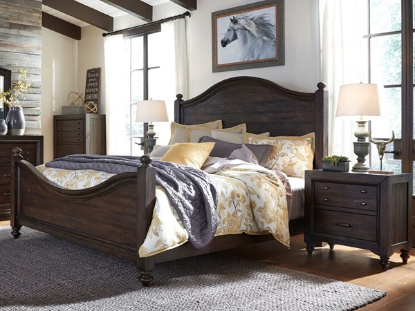 Liberty Catawba Hills Peppercorn Saw 2pc Bedroom Set with King Poster Bed LBRT-816-KPS-BR-S1