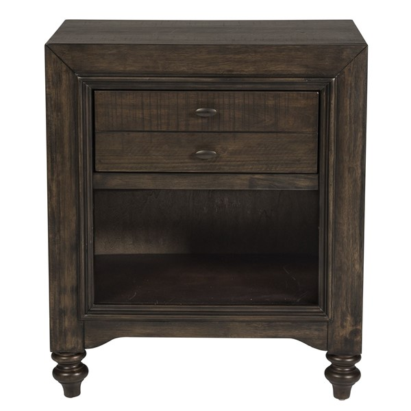 Liberty Catawba Hills Peppercorn Saw Night Stand LBRT-816-BR62